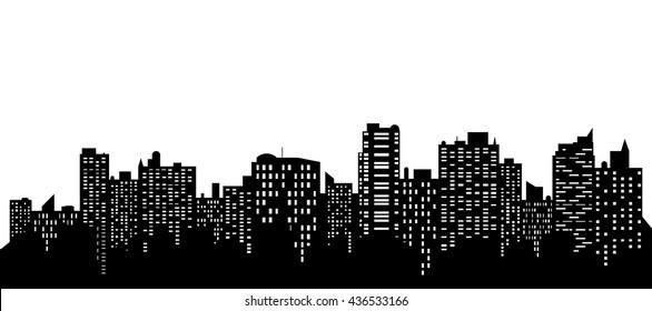 Vector of the cityscape skyline.