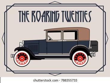 Vector Classic Car from the Roaring Twenties