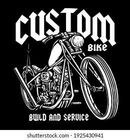 vector of classic custom motorcycle badge