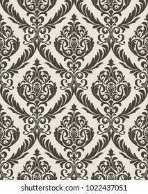 Vector Classic Damask Seamless Pattern