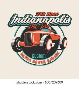 vector classic race car illustration