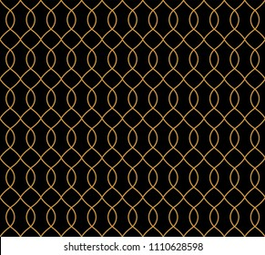 Vector Classic Seamless Pattern. Monochrome Retro Texture. Hipster Geometric Background.