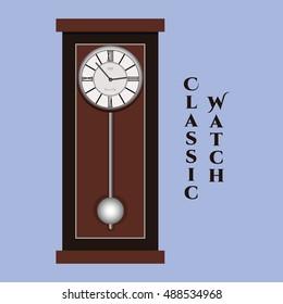 Vector classic watch.