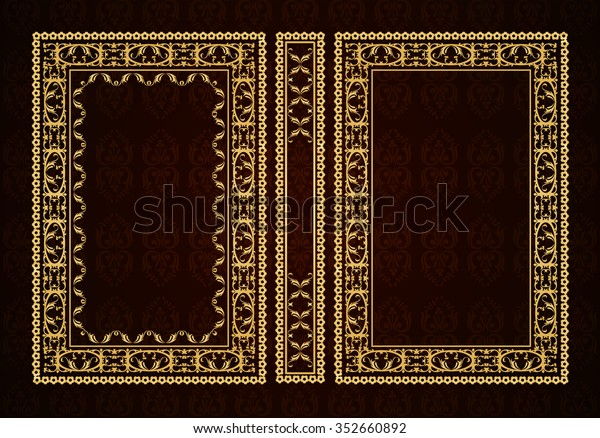 Vector Classical Book Cover Decorative Vintage Stock Vector