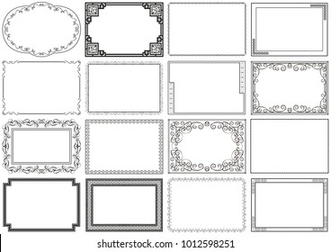 Vector classical cover about size A4. Decorative vintage frame or border to be printed on the covers of books, text, album, photo. Color can be changed in a few mouse clicks.