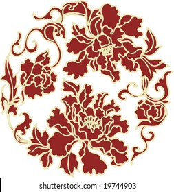 Vector of Classical Traditional Chinese Artistic Pattern, for background, pattern or texture design etc.
