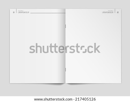 Vector Clean Blank Newspaper Template Or Magazine On Gray Background
