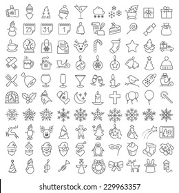 Vector clean flat  icons set for web design and application user interface. Nice details and easily identifiable. Useful for holidays infographics.