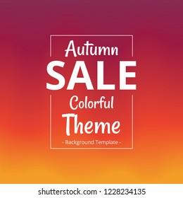 vector clean minimalist professional autumn theme sale social banner template