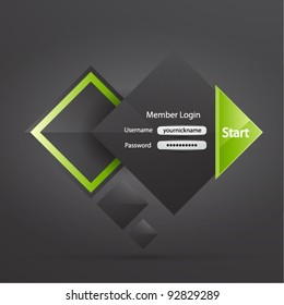 Vector clean professional business login form