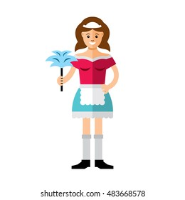 Vector Cleaning service. Flat style colorful Cartoon illustration.