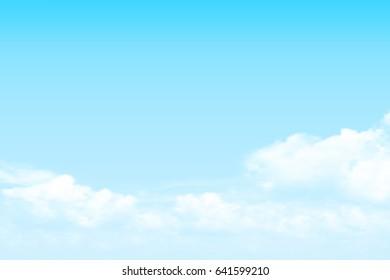 vector clear sky cloud background