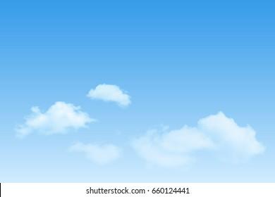 vector clear sky cumulus cloud background