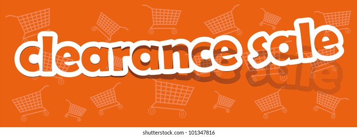 vector clearance sale; realistic cut, takes the background color