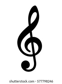 Vector Clef Musical Note