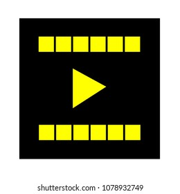 vector clip play button icon - movie media symbol - start watch or play video
