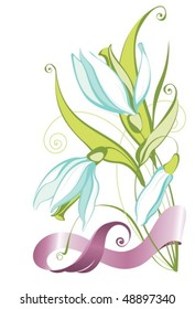 Spring flower clipart stock images royalty free images vectors vector clipart with spring flowers mightylinksfo