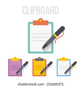 Vector clipboard icons.