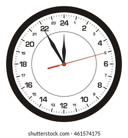 Vector clock 24 hours