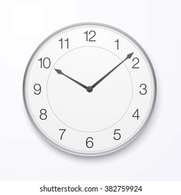 Vector clock hanging on the wall.