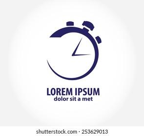 Vector clock, time company logo design, business symbol concept. Company logo design.