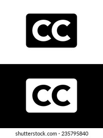 Vector 'closed captioning' symbol for broadcast and television
