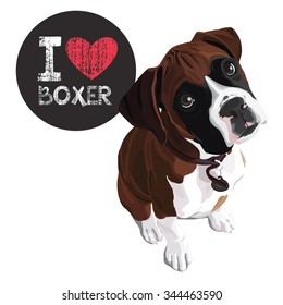 boxer dog cartoon images stock photos vectors shutterstock rh shutterstock com boxer dog cartoon image boxer dog cartoon canvas nook