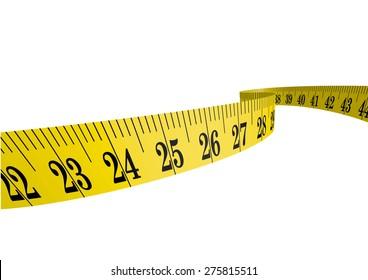 Vector cloth measure / measuring tape 3D