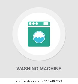 vector clothes washer illustration isolated - laundry machine. home appliance