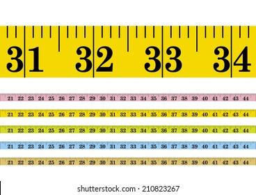 Vector clothmeasure / measuring tape