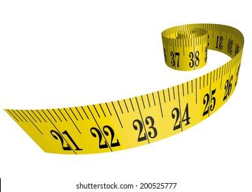 Vector clothmeasure / measuring tape 3D