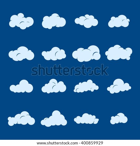 Vector Cloud Icon Set Cloud Symbol Stock Vector Royalty Free