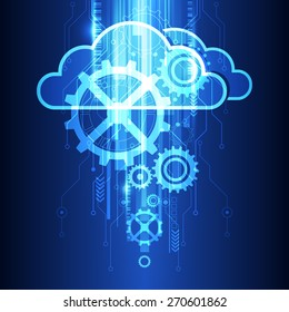 vector cloud technology system background, illustration