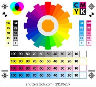 vector CMYK Press Marks