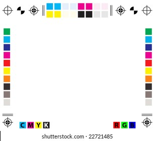 vector CMYK Press Marks - copy space included