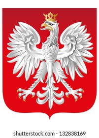 Vector Coat of Arm of  Poland