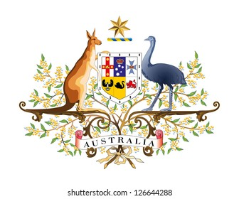 Vector Coat of arms of Australia