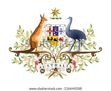 vector coat arms australia stock vector royalty free 126644288