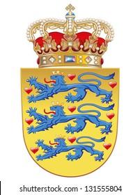 Vector Coat of arms of Denmark
