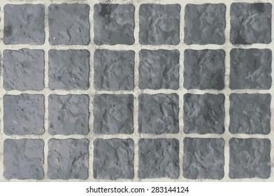 Vector, Cobble square stone background