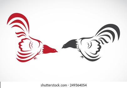 Vector of a cock on white background. Animal Farm. Chicken. Easy editable layered vector illustration.