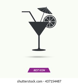 Vector of cocktail logo, cocktail symbol or icon, cocktail illustration