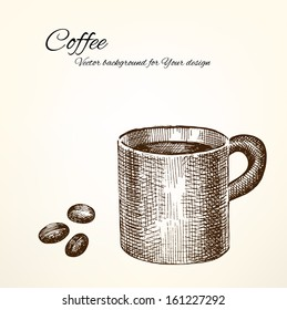 Vector coffee background for Your design