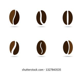 vector coffee beans template vector icon illustration design