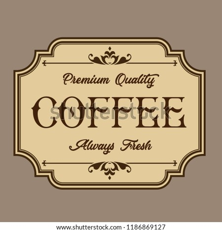 vector coffee labels isolated coffee label stock vector royalty