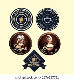 vector coffee logo template Look
