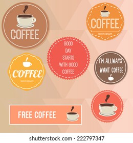 Vector coffee template
