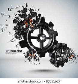 Vector Cogwheel Crushing