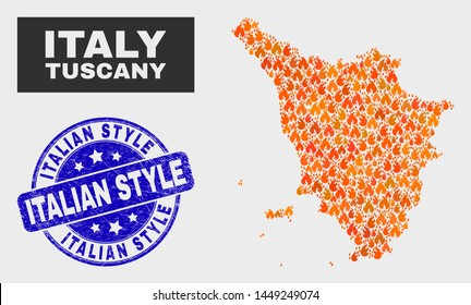 Tuscany On Map Of Italy.Tuscany Map Images Stock Photos Vectors Shutterstock