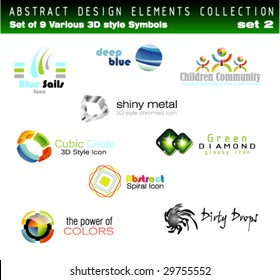 VECTOR Collection of 3D Design Elements Set 2 - Other set in my Portfolio